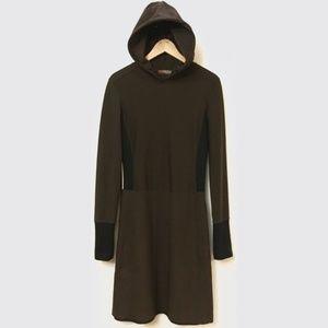 New edgy Prada hooded cult midi dress